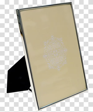 Frames Plating Silver Metal Section Frame Printing, Silver Passport Cover PNG clipart