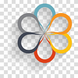PPT element,information, multicolored flower logo PNG