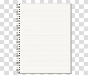 white blank spiral notebook PNG