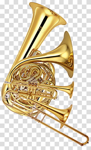 brass-colored wind instruments, Brass Instruments Musical Instruments Wind instrument Tuba, trombone PNG