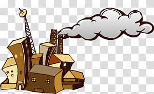 Factory Chimney Smoke , Abstract factory chimneys PNG clipart