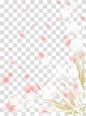 pink halo white flower effect element PNG