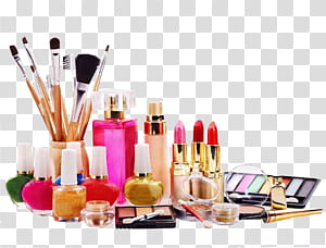 Ingredients of cosmetics Beauty Parlour, Makeup Cosmetics, assorted makeup kit PNG clipart