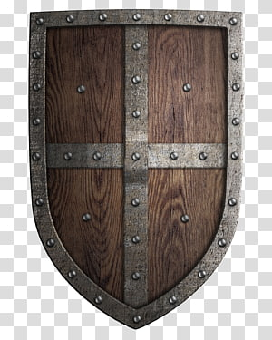 gray and brown shield , Middle Ages Shield Sword Coat of arms, Retro Shield PNG