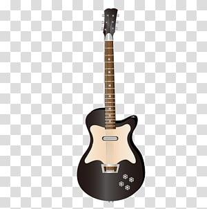 Musical instrument Electric guitar Drum, Black guitar PNG