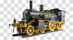 Steam engine Train Rail transport Locomotive Railroad car, train PNG clipart