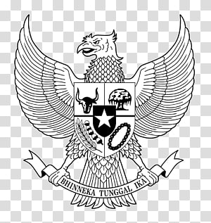 Bhinneka Tunggal Ika logo, National emblem of Indonesia Pancasila Garuda , garuda PNG clipart