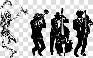 Jazz trio Silhouette Musician , trombone PNG
