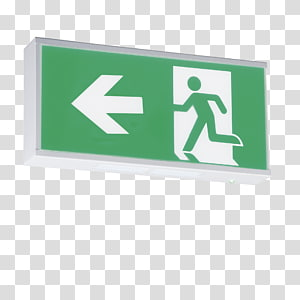 Exit sign Emergency exit Emergency Lighting Light-emitting diode, light PNG clipart