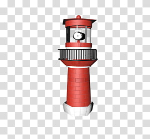 red and white lighthouse, Lighthouse Red PNG