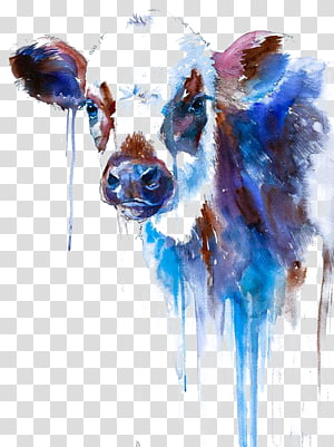 watercolor cow PNG clipart