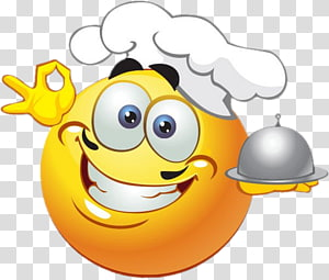 yellow and white chef emoticon illustration, Emoticon Smiley Emoji Chef , March St. Patrick PNG