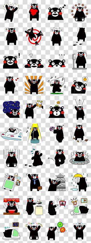 Kumamoto Bear Kumamon Sticker Character, bear PNG clipart