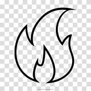 Drawing Fire Black and white Flame, fire PNG