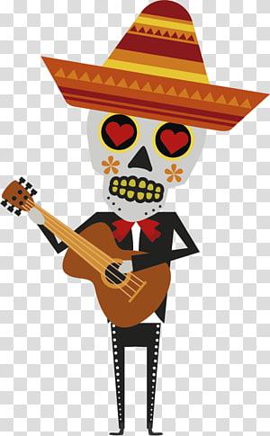 La Calavera Catrina Day of the Dead Mexico, dia de muertos PNG