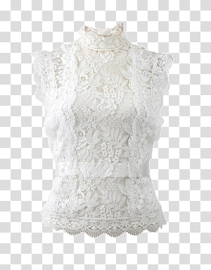 Blouse Lace Slip Top Shirt, shirt PNG