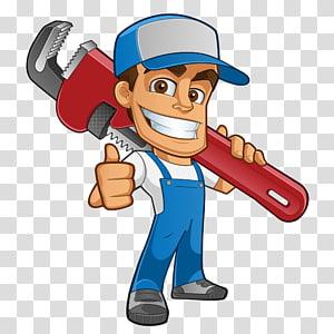 man illustration, Plumber Atta-Boy Plumbing Services Drain Tap, Cartoon plumber PNG