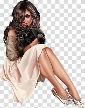 Pin-up girl Fashion illustration Digital illustration Art, woman PNG