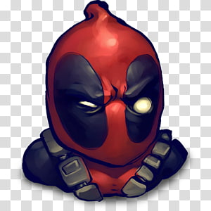 fictional character illustration, Comics Mask, Deadpool PNG