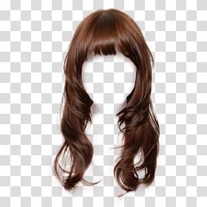 Brown hair Wig Hairstyle Long hair Hair coloring, hair PNG
