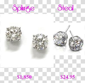 Earring Silver Bling-bling Body Jewellery, silver PNG