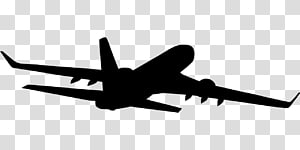 Airplane Silhouette Aircraft Flight, travelling PNG