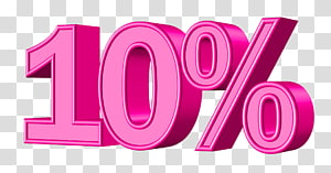 pink 10% , Sales Money, Offer PNG
