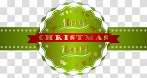 green and red Merry Christmas ribbon illustration, Christmas New Year\'s Day , Merry Christmas and Happy New Year Label PNG clipart