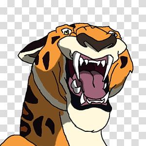 Tiger Kerchak Leopard Tarzan Sabor, tiger PNG