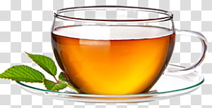 a cup of tea and mint leaves PNG clipart