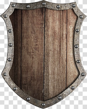 wooden shield PNG clipart