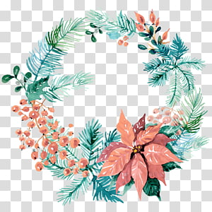 Wreath Wedding invitation Christmas ornament Watercolor painting, watercolor wreaths PNG clipart
