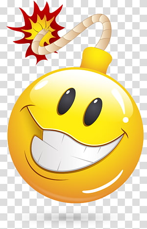 Emoticon Smiley , bombe PNG clipart