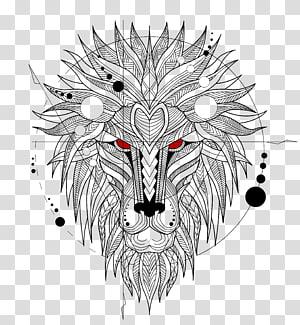 Lionhead rabbit Tiger Abziehtattoo, lion PNG