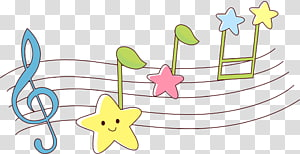 music note , Musical note Cartoon Illustration, Cartoon Star notes PNG clipart