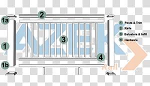 Deck railing Guard rail Wood Handrail, Deck Railing PNG clipart