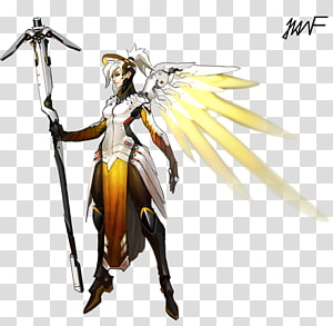 Overwatch BlizzCon Mercy Concept art, artworks PNG clipart