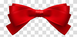 Ribbon Bow tie Shoelace knot, Red ribbon knot PNG