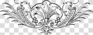 Line art Ornament Vintage clothing Rococo, design PNG