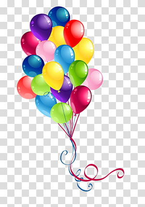 balloons , Birthday cake Balloon Happy Birthday to You , Colored balloons PNG clipart