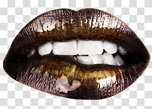 Lip Color Gold, gold PNG clipart