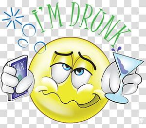 Emoji Emoticon Alcohol intoxication Alcoholic Beverages , Drunk Driver PNG