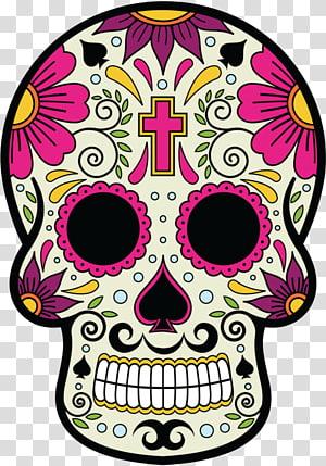 Calavera Skull and crossbones Day of the Dead Mexican cuisine Death, La Calavera Catrina PNG