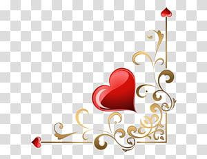 Heart , corner PNG clipart