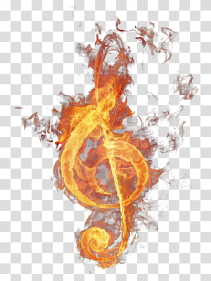 Clef Fire Treble, Fire Treble Clef , G-clef illustration PNG clipart