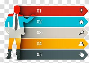 man standing raising left hand artwork, Chart Infographic, Creative PPT element PNG clipart