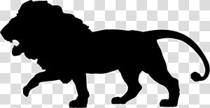 Silhouette African wild dog Lion Cat , the king of jungle PNG clipart