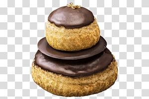 pastry with chocolate toppings, Religieuse PNG clipart