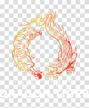 Tiger Yin and yang Dragon Symbol, tiger PNG clipart