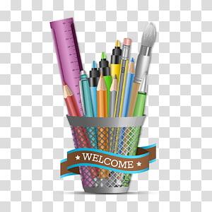 Pencil Pens Paper Brush pot Drawing, pencil PNG clipart